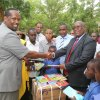 governor Roba receives book donations from Nation Media Group