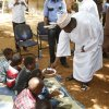 mandera islamic center - Governor Roba feeding orphans